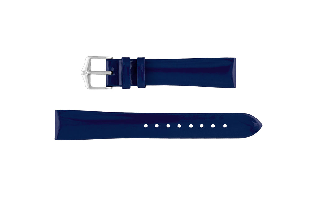 Diva by HIRSCH - Women's Navy Patent Leather Watch Strap