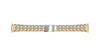 Hadley Roma Women's Two-Tone Straight End Metal Link Bracelet Watch Band LB5473T