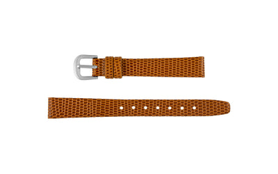 Stuller Women's Tan Flat Lizard Grain Leather Watch Strap LS221