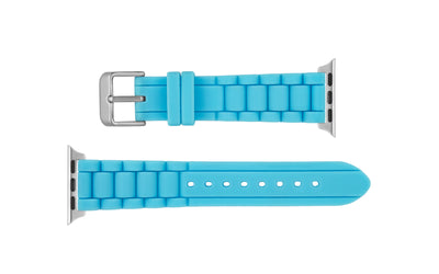 Apple Watch 38mm & 40mm - Women's Turquoise Silicone Watch Strap APP3320