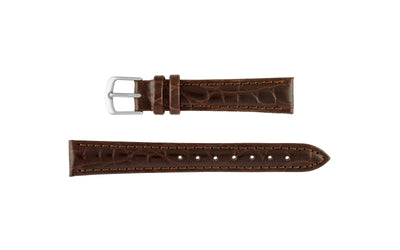Hadley-Roma Women's Brown Crocodile Grain Leather Watch Strap LS717