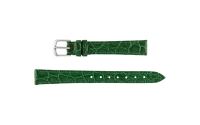 Hadley-Roma Women's Green Crocodile Grain Leather Watch Strap LS717RJ