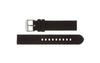 Hadley-Roma Men's Black Genuine Silicone Watch Band MS3359