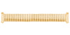 Hadley-Roma Men's MB7015Y Yellow Tone Curved End Metal Expansion Watch Band