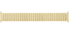 Hadley-Roma Men's MB7045Y Yellow Tone Straight End Metal Expansion Watch Band