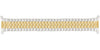 Hadley-Roma Men's MB7347T Two Tone Curved End Metal Expansion Watch Band