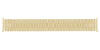 Hadley-Roma Men's MB7755Y Yellow Tone Curved End Metal Expansion Watch Band