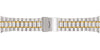 Hadley-Roma Men's Two-Tone Straight End Metal Link Bracelet Watch Band MB9227TSQ