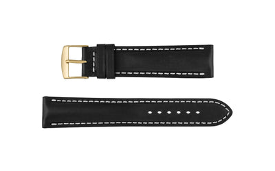 Fleurus France - Men's Black Vintage Soft Genuine Leather Watch Strap MS025-06
