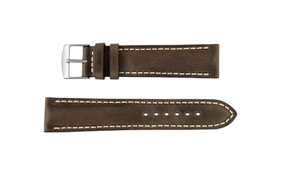 Fleurus France - Men's Cocoa Brown Vintage Soft Genuine Leather Watch Strap MS025-06