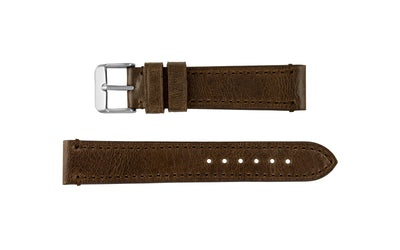 Fleurus France - Men's Mocha Genuine Camel Leather Watch Strap MS025-35