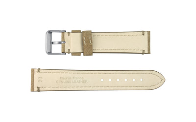 Fleurus France - Men's Natural Genuine Camel Leather Watch Strap MS025-35