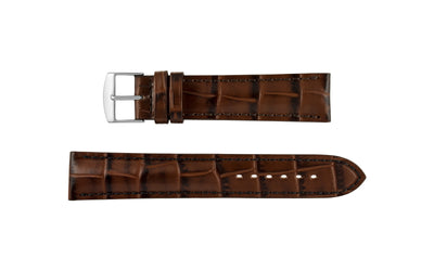Fleurus France - Men's Havana Alligator Grain Leather Watch Strap
