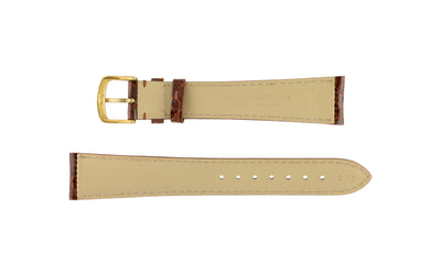 Hadley-Roma Men's Honey High-Gloss Genuine Crocodile Watch Strap MS2001