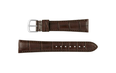 Hadley-Roma Men's Matte Brown Genuine Alligator Watch Strap MS2005