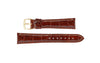 Hadley-Roma Men's High-Gloss Havana Genuine Alligator Watch Strap MS2007