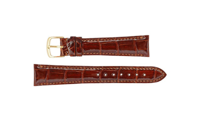 Hadley-Roma Men's Tan Genuine Alligator Watch Strap MS2007