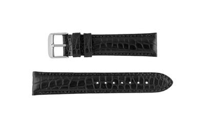 Hadley-Roma Men's Black Genuine Alligator Watch Strap MS2010