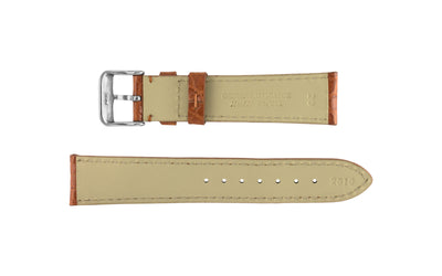 Hadley-Roma Men's Tan Genuine Alligator Watch Strap MS2010