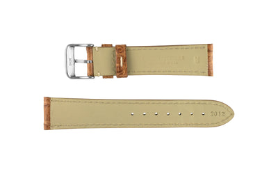 Hadley-Roma Men's Tan Genuine Caiman Crocodile Watch Strap MS2012