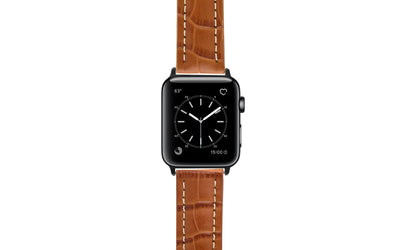 Apple Watch 42mm & 44mm Strap - Tan Genuine Calfskin APP2035