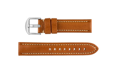 Hadley-Roma Men's Tan Genuine Leather Watch Strap MS2036