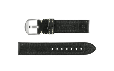 Hadley-Roma Men's Black Vegetable Tanned Leather Watch Strap MS2040