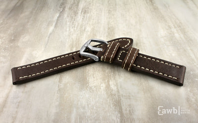 Apple Watch 42mm Replacement Strap, Brown Vegetable Tanned Leather APP2040