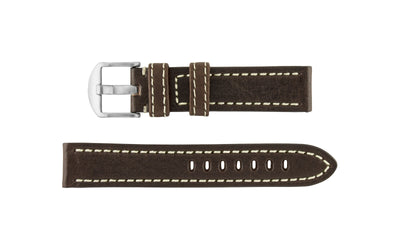 Hadley-Roma Men's Brown Vegetable Tanned Leather Watch Strap MS2040