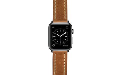 Apple Watch 42mm & 44mm Strap - Tan Vegetable Tanned Leather APP2040