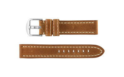 Hadley-Roma Men's Tan Vegetable Tanned Leather Watch Strap MS2040