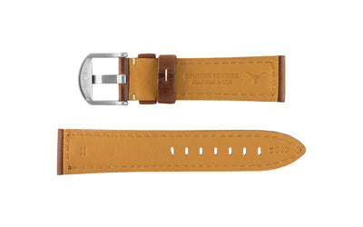 Hadley-Roma Men's Brown Oil Tan Leather Watch Strap MS2042