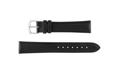 Hadley-Roma Men's Black Hermes™ Grain Leather Watch band MS2045