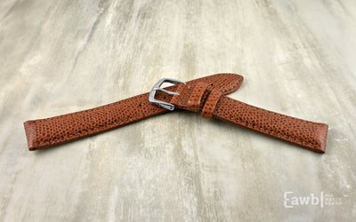 Hadley-Roma Men's Chestnut Hermès™ Grain Leather Watch Strap MS2045