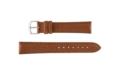 Hadley-Roma Men's Chestnut Hermes™ Grain Leather Watch band MS2045