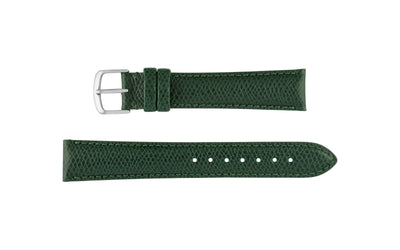 Hadley-Roma Men's Green Hermes™ Grain Leather Watch band MS2045