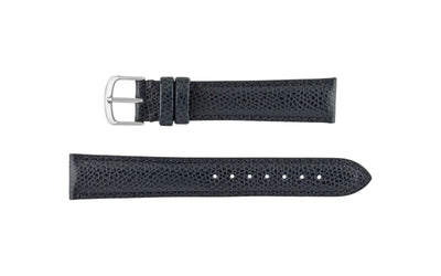 Hadley-Roma Men's Navy Hermes™ Grain Leather Watch band MS2045