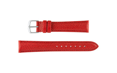 Hadley-Roma Men's Red Hermes™ Grain Leather Watch band MS2045