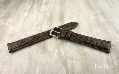 Hadley-Roma Men's Dark Brown Hermès™ Grain Leather Watch Strap MS2045