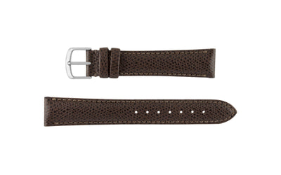 Hadley-Roma Men's Dark Brown Hermes™ Grain Leather Watch band MS2045