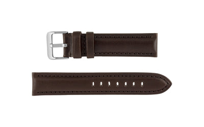Hadley-Roma Men's Brown High Polished Glazed Leather Watch Strap MS2046