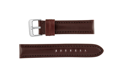 Hadley-Roma Men's Burgundy High Polished Glazed Leather Watch Strap MS2046