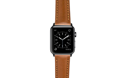 Apple Watch 42mm & 44mm Strap - Tan Polished Leather APP2046
