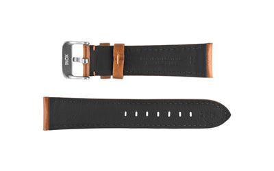 Hadley-Roma Men's Tan High Polished Glazed Leather Watch Strap MS2046