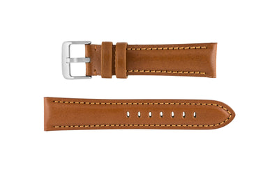Hadley-Roma Men's Tan High Polished Glazed Leather Watch band MS2046