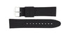 Hadley-Roma Men's Black/Black Genuine Silicone Watch band MS3315