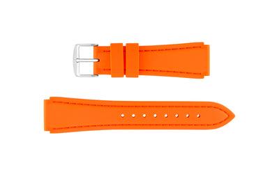 Hadley-Roma Men's Orange Genuine Silicone Watch band MS3346