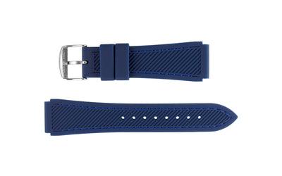 Hadley-Roma Men's Blue Genuine Silicone Watch Band MS3346