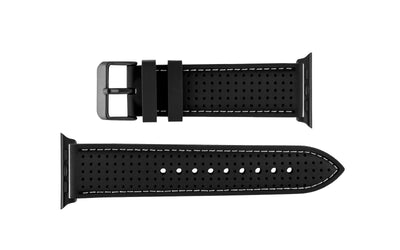 Apple Watch 42mm & 44mm Strap - Black Perforated Silicone APP3351