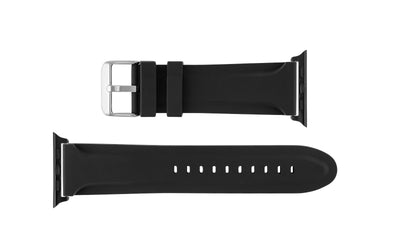 Apple Watch 42mm Replacement Strap by Hadley-Roma, Black Genuine Silicone APP3377